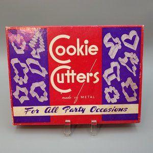 Vintage Cookie Cutters Made of Metal